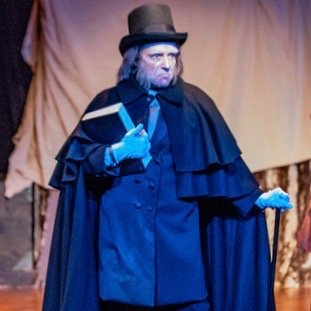 Wynn Harmon, Carine Montbertrand, and Alan I. Ross, A CHRISTMAS CAROL at Queens Theatre in the Park/Titan Theatre Co. (photo by Michael Pauley)