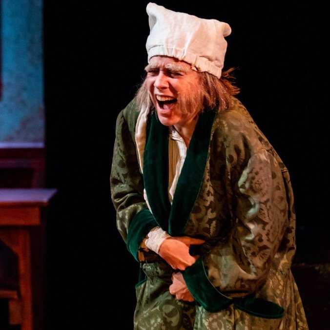 Carine Montbertrand, A CHRISTMAS CAROL at Queens Theatre in the Park/Titan Theatre Co. (photo by Michael Pauley)